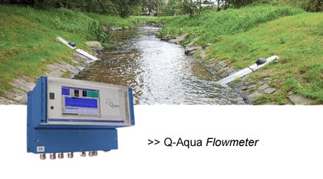 Discharge measurement in surface water, short distances